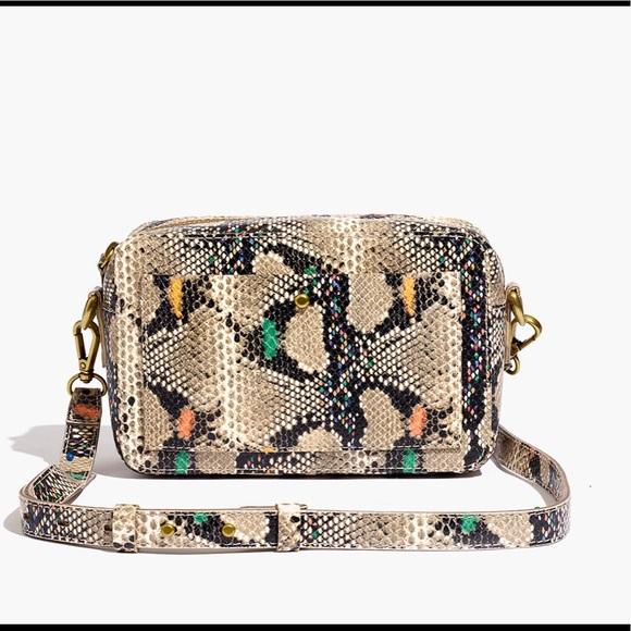Roblox Backpack Closet Madewell Bags Snakeskin Transport Camera Bag Poshmark